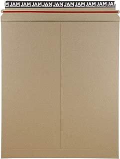 JAM PAPER Stay-Flat Photo Mailer Envelopes with Peel & Seal Closure - 12 3/4 x 15 - Brown Kraft - 6 Rigid Mailers/Pack