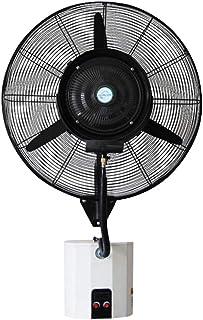 ventilador Con Nebulizador,Industrial Niebla De Exterior Humidificador,60 °oscilante,Montado En La Pared,Tanque De Agua 15L,3 Velocidades Ajustables