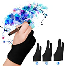 LUCKSTAR Artist Glove Pack of 2 – Drawing Glove Graphic Drawing Tablet 2-Fingers..