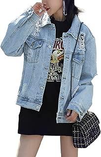 Jason Maxwell Womens Outerwear Womens Soft Denim Bomber Jacket Jacket