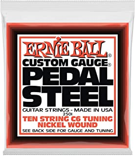 Ernie Ball Pedal Steel Nickel Wound 10-string Set, C6 Tuning