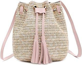 Fanspack Womens Bucket Bag Tassel Vintage Shoulder Bag Crossbody Bag