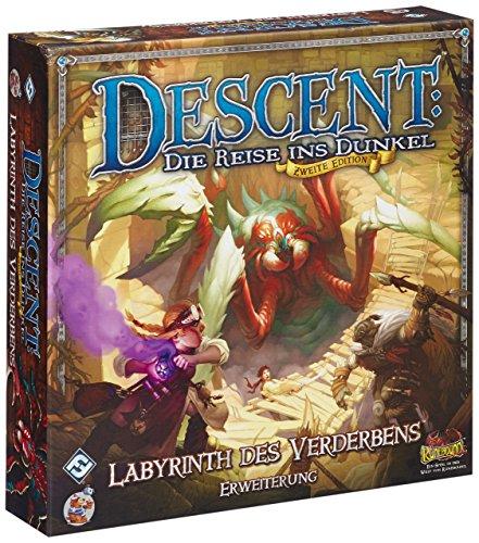 Preisvergleich Produktbild Asmodee HEI0603 - Descent 2 Edition: Labyrinth des Verderbens - Erweiterung