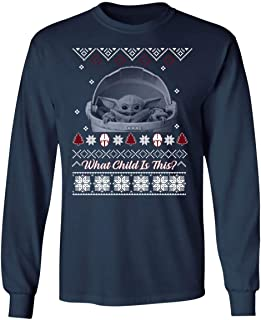 LeetGroupAU What Child is This Baby Yoda The Mandalorian Christmas Long Sleeve