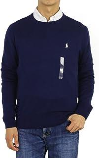 Men's Cashmire Cotton Blend Pulover Crewneck Sweater