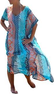 new concept e34c0 d2680 Amazon.it: vestiti donna estivi lunghi - Copricostumi e ...
