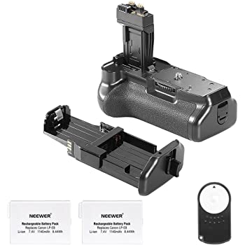 Neewer® Reemplazo empuñadura de batería BG-E8para Canon 550d/600d/650d/700d Rebel T2i/T3i/T4i/T5i + 2* batería de reemplazo Recargable 7.4V 1350mAh LP-E8batería + Control Remoto por Infrarrojos