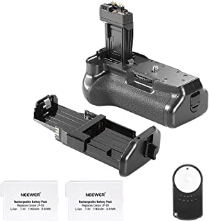 Neewer Replacement Battery Grip BG-E8 for Canon 550D/600D/650D/700D Rebel T2i/T3i/T4i/T5i+2Replacement Rechargeable 7.4V 1140mAh LP-E8 Battery+Infrared Remote Controller