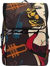 ADONINELP Woman Singer Red Dress Vector Image Bookbag Shoulder Bag