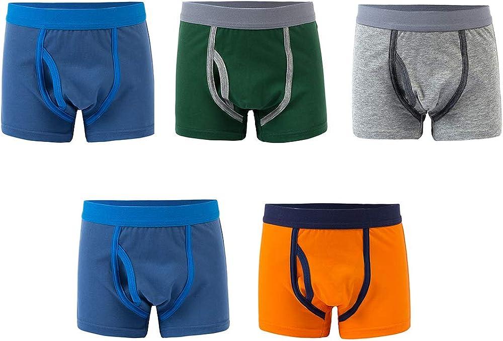 Qin.OriannaBoys Boxer Briefs Cotton Camo Tractor Dinosaur Underwear 5 Pack 2-12Y
