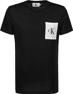 Calvin Klein Jeans Men's Monogram Pocket T-Shirt, Black