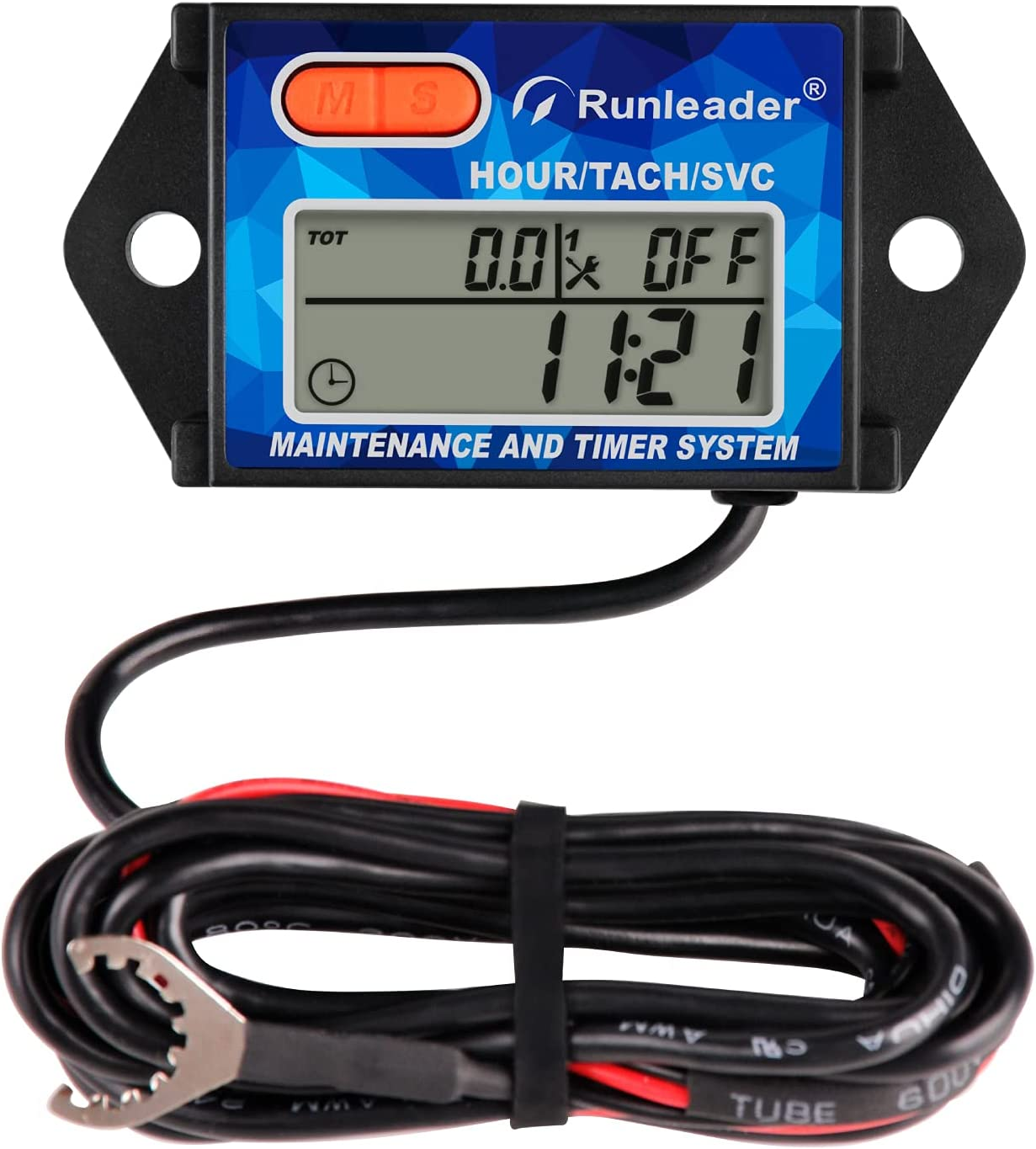 Runleader Digital Recommendation Now free shipping Hours Tachometer Battery Reminder Maintenance