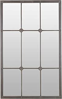 Aspire Kinslee Window Pane Wall Mirror, Brown