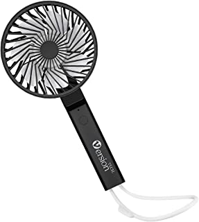 VersionTECH. Fan, Small Mini Desk Portable Personal Table Folding Handheld Fan with USB Rechargeable Battery Operated Electric Fan for Travel Office Outdoor Sport Household Camping Black