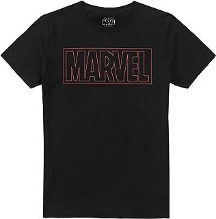 Marvel Outline Logo Camiseta para Hombre