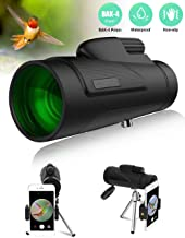 AIRSOFTPEAK Monocular Telescope 12x50 Low Night Vision BAK-4 Prism Monocular Scope HD for Smartphone Compact Monocular for Adults Bird Watching Hunting