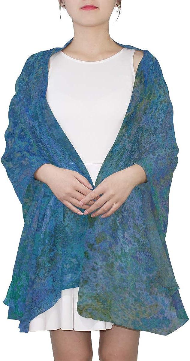 Shawl Scarf Texture Pattern Blue Turquoise Fashion Scarfs Women Scarf Kids Lightweight Print Scarves Travel Scarf Lightweight Scarfs For Women