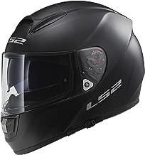 LS2 Helmets Citation Solid Full Face Motorcycle Helmet with Sunshield (Matte Black, X-Large)