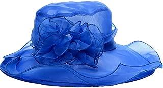 Vintage Flower Wide Brim Summer Beach Sun Hat for Ladies Womens