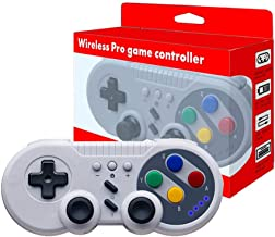 JFUNE Wireless Switch Pro Game Controller Classic Gamepad for Nintendo Switch (Grey Retro Style)