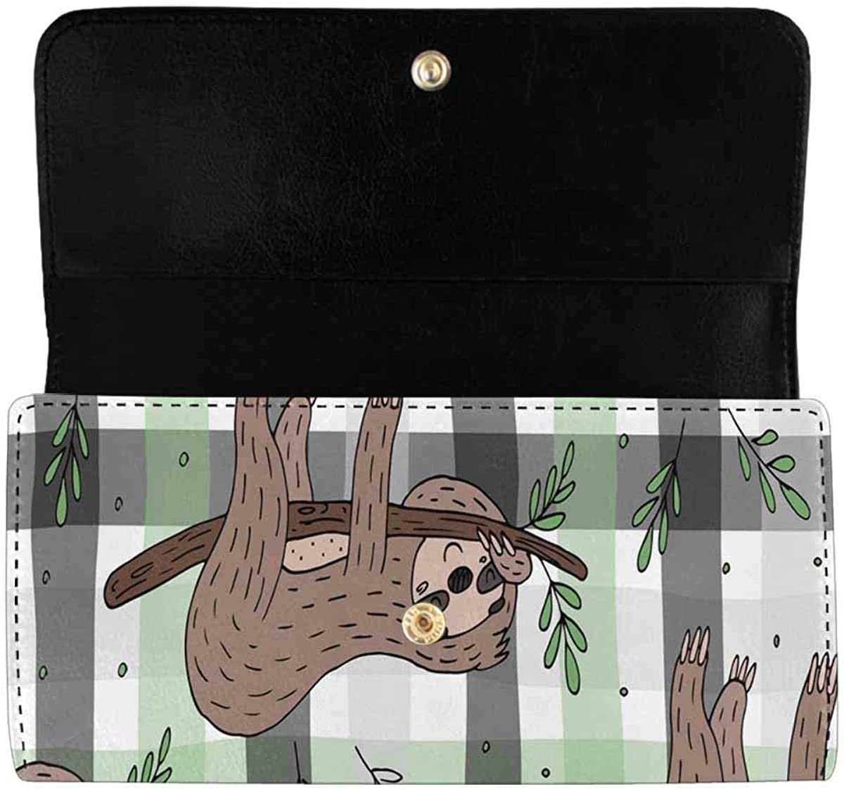 Max 40% OFF InterestPrint Sales of SALE items from new works Women's Trifold Clutch Wallets Cute Doodle Sloth L