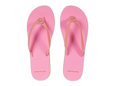 Tory Burch Mini Minnie Flip-Flop (Burnt Corals/Peony/Burnt Corals) Women