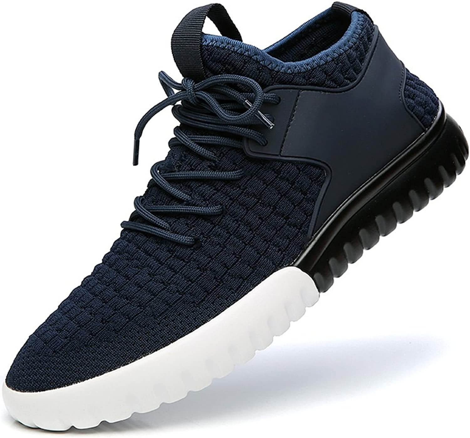 YIXINY 888474 Spring And Autumn Breathable Wear-resistant Outdoor Fashion Casual Men's shoes (color   bluee, Size   EU41 UK7.5-8 CN42)