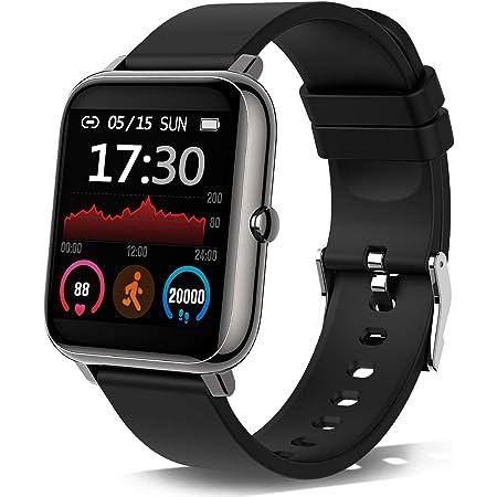 Smartwatch, Orologio Fitness Tracker Uomo Donna Smart Watch Sonno Cardiofrequenzimetro, Sportivo Activity Tracker Cronometro, Smartband Notifiche Messaggi Controller Fotocamera Musicale