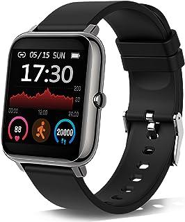 Smartwatch, Reloj Inteligente con Pulsómetro, Cronómetros, Calorías, Monitor de Sueño, Podómetro Pulsera Actividad Intelig...
