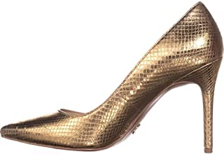 Michael Michael Kors Womens Claire Leather Snake Embossed Dress Heels