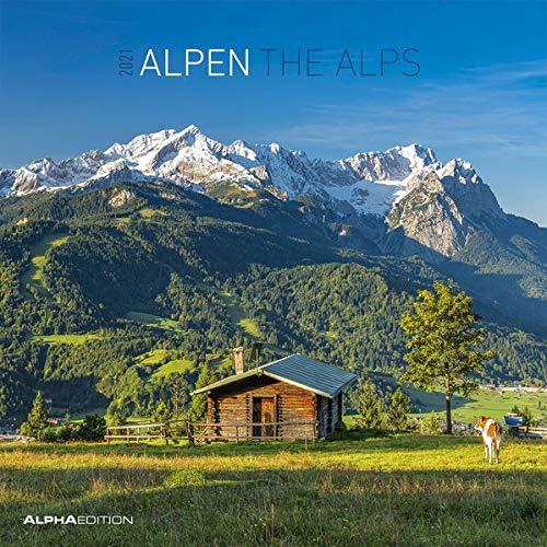 Alpha Edition - Calendario 2021 da muro Alpi, 12 Mesi, 30x30 cm (30 x 60 aperto)