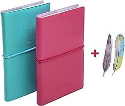 PENTA ANGEL Pocket Notebooks with PU Leather 2pcs 3
