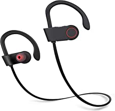 Bluetooth Headphones, Wireless in-Ear Earbuds Sports Headphones, Stereo Sound, Noise Cancelling, Sweatproof Waterproof Gym Running Earphones with Built-in Mic for PC/Cell Phones/TV