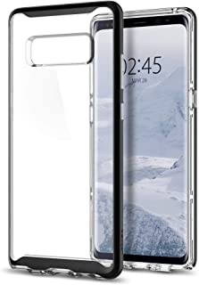 Galaxy Note 8 Case, Spigen Neo Hybrid Crystal with Clear Hard Casing and Hard Frame Black