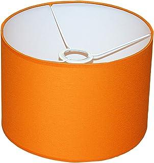 Abażur 260x180 mm średnica x wysokość   Walec   Bawełna pomarańczowa   Pod oprawkę E27 (dużą)   Do lamp stołowych, podłogo...