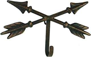 Marco Western Crossed Arrows Wall Hook w/Painted Coppery Finish