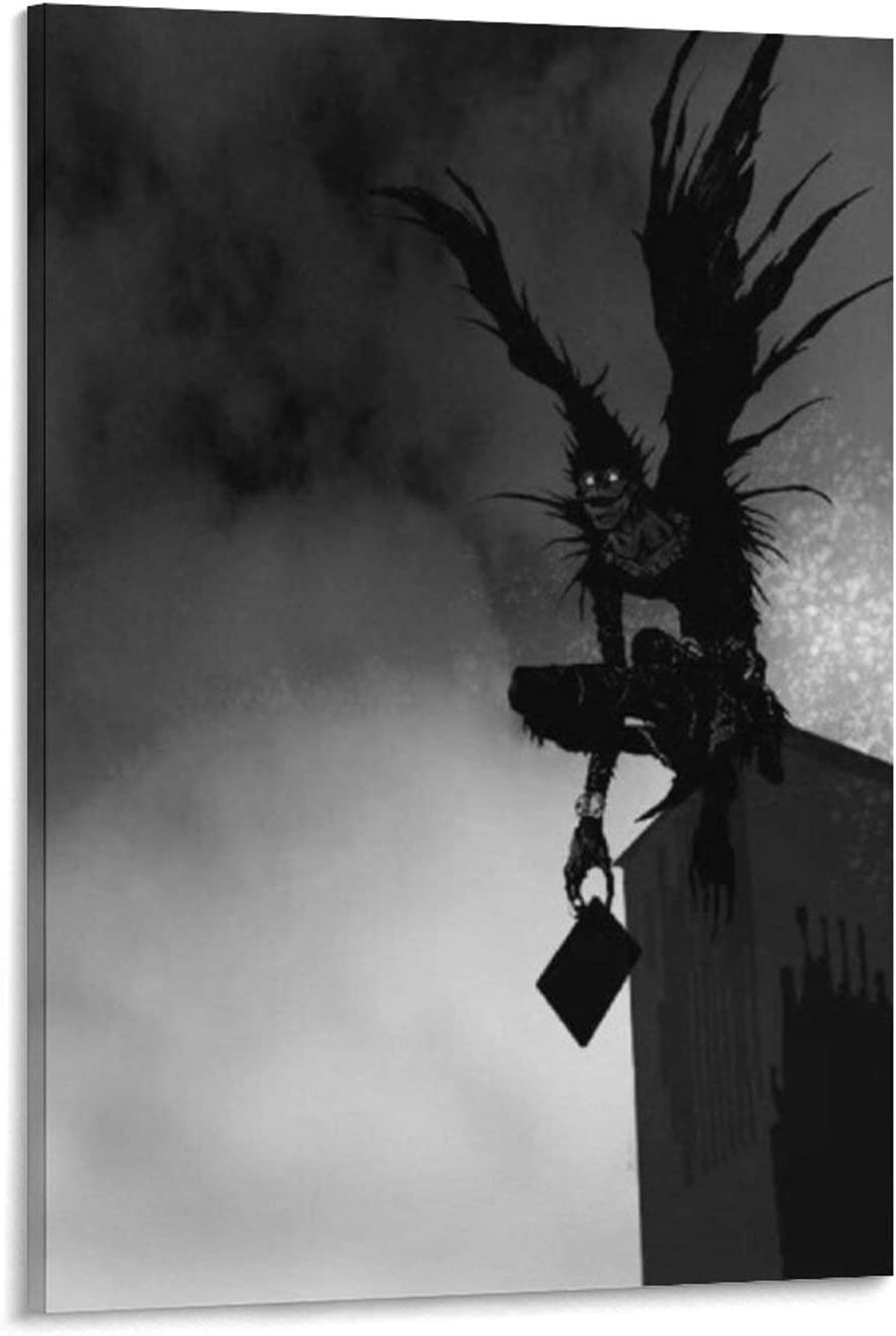 20 x 30 cm dise/ño moderno de habitaci/ón familiar P/óster de anime c/ómics 4k HD sobre lienzo y arte de pared GDFG Death Note