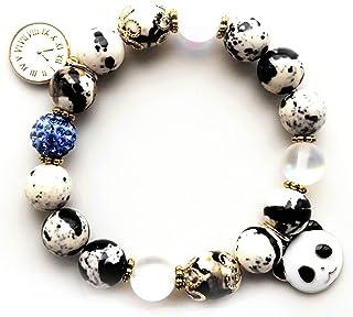 天然石 パワーストーン パンダ panda オーラ水晶 ホワイト ブラック 時計 瑪瑙 ブレスレット レディース キッズ アクセサリー 仕事運 金運 勉強運 合格祈願 成功運 数珠 天然水晶 恋愛 健康 誕生石