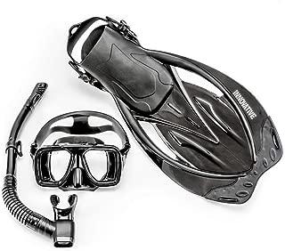 Innovative Scuba Concepts MSF4611 REEF, Adult Snorkel Set, Mask, Fins, Snorkel and Bag