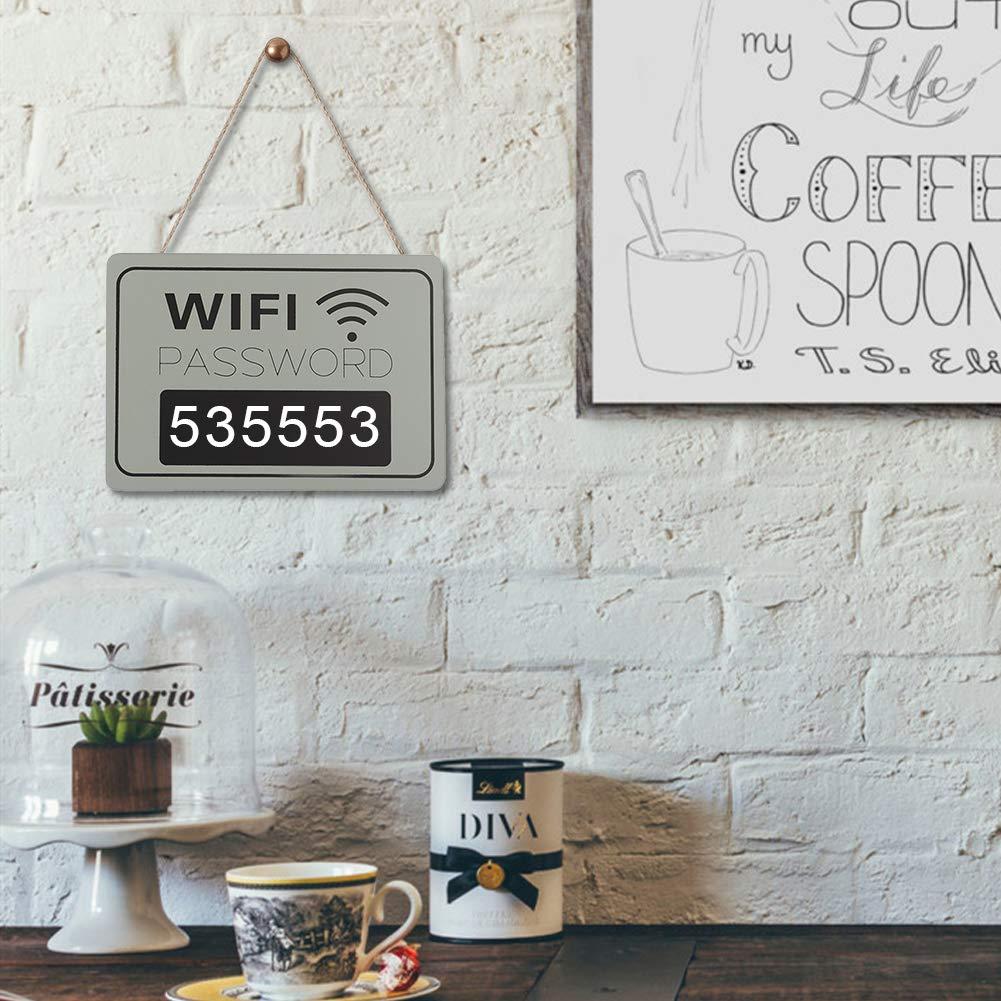 Pizarra para colgar en la pared AUNMAS con WiFi, estilo retro, para decorar la librería: Amazon.es: Hogar