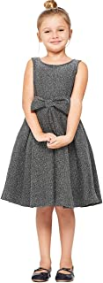 iGirlDress Girls Metal Glitter Knit Pleats Skirt Holiday Christmas Dress 4-16