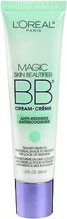 L'Oréal Paris Makeup Magic Skin Beautifier BB Cream Tinted Moisturizer Face Makeup, Anti-Redness, Green, 1 fl. oz.