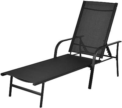 Amazon.com: TANGKULA - Sillas de patio reclinables con ...