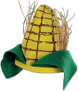 Plush Yellow & Green Corn Cob Novelty Hat