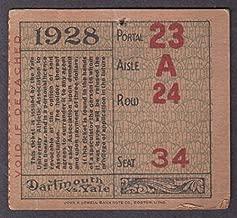 Dartmouth vs Yale College Football ticket stub 1928