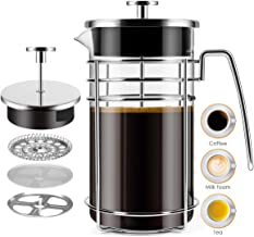 French Press Coffee Maker, (8 Cups/ 34 oz / 1000ml) Durable Easy Clean Coffee Pot Heat Resistant Borosilicate Glass - 100%...