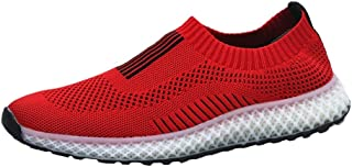 Fashion Shoes, Fashion Shoes Men Athletic Shoes for Sports Shoes Slip On Style Mesh Material Hollow Elastic Light and Flexible Solid Color Comfortable Shoes, Breathable Shoes