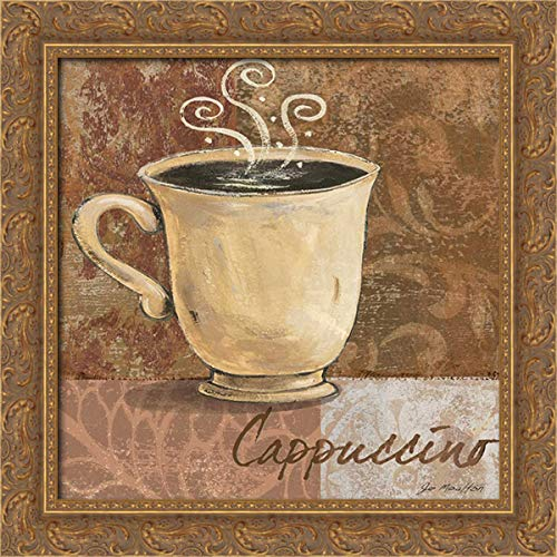 Moulton, Jo 20x20 Gold Ornate Framed Canvas Art Print Titled: Cappuccino