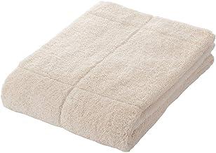 Muji Organic Cotton Blend Thick Bath Towel with Further Option, 70 x 140cm, Ecru