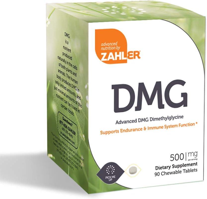 Zahler DMG 500mg Advanced N-dimethylglycine 激安セール N お歳暮 Supplement A